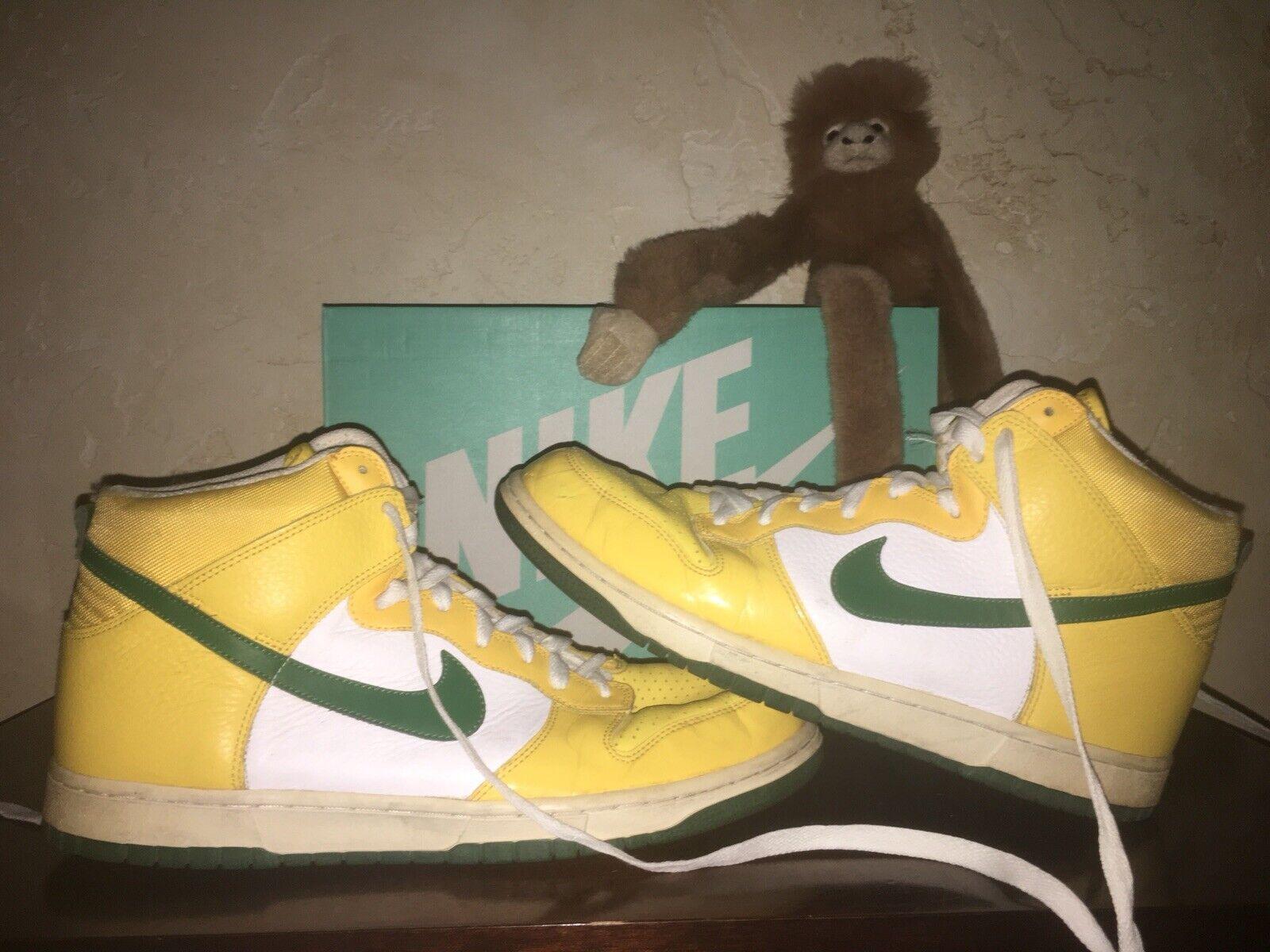 Mens Sz 13 Nike Dunk GREEN BAY PACKERS Green Yellow shoes BRAZIL 317982 731
