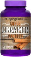 Super Cinnamon 1500mg + Chromium Picolinate & Biotin 1400mcg Supplement 120 Caps