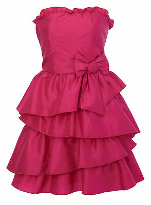 BHS Charm Frill Skirt Taffeta Bridesmaid Prom Party Dress Pink Age 9 or 15 Years