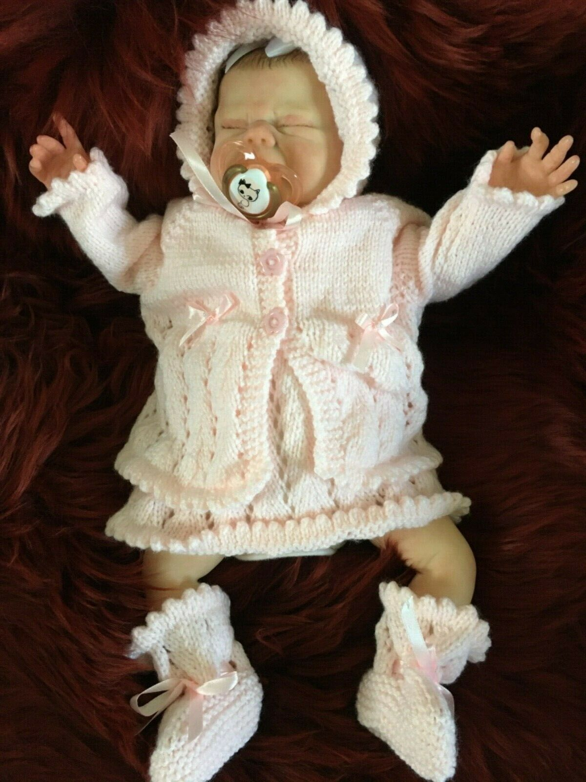 Reborn Tiny Maisie from the Vincent kit by Nikki Johnson.