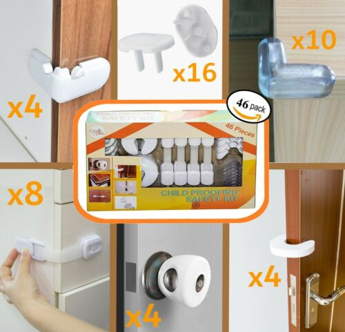 Baby Proofing Kit Pack of 46 Complete Child Safety Child Proof Package
