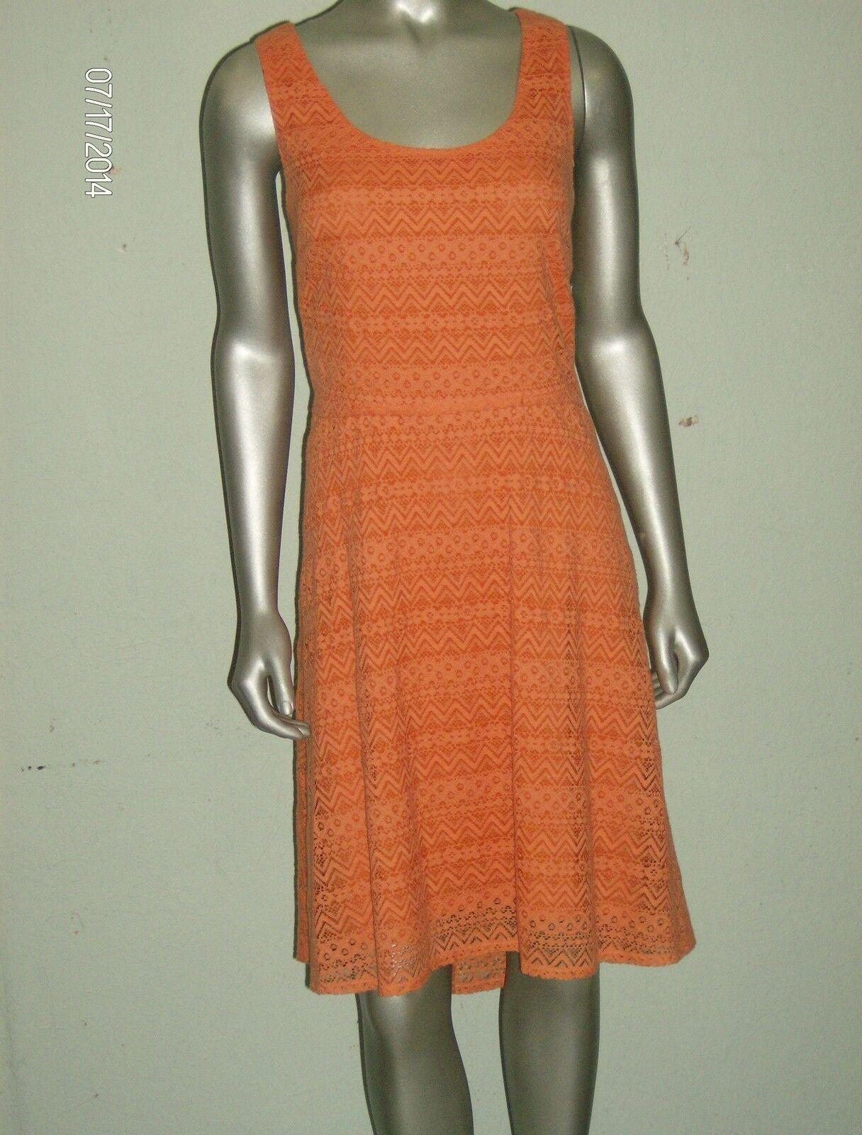 women Morgan Women's orange A-Line Lace Lace Lace Overlay  12 454fe5