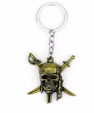 Pirates of the Caribbean Jack Sparrow Skull W/ Crossed Swords Metal Keychain
