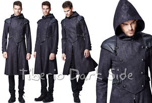 Punk-Rave-Y-582-Assassin-Hooded-Double-Breasted-Gothic-Steampunk-Male-Men-Coat