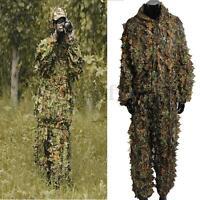 2pcs Utility Hunting Camo Camouflage Clothing Leafy Woodland Hunting Jungle Al