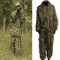 2pcs Utility Hunting Camo Camouflage Clothing Leafy Woodland Hunting Jungle Se