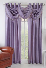 "Chelsea 56"" X 84"" Faux Silk Window Curtain with 8 Grommets Lavender Color"