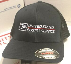 1cc4f3bf4a0 USPS POSTAL DARK NAVY FLEXFIT SUMMER TIME MESH BACK HAT USPS LOGO ...