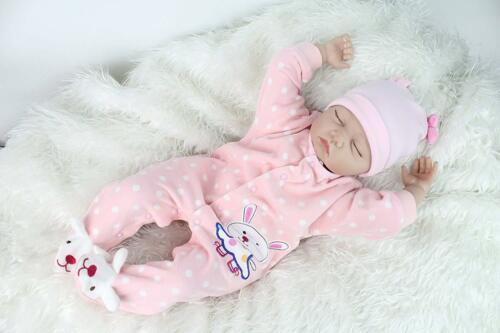 """REBORN DOLLS REAL LIFELIKE BABY GIRL 22/"""" SOFT SILICONE VINYL WEIGHTED BODY"""