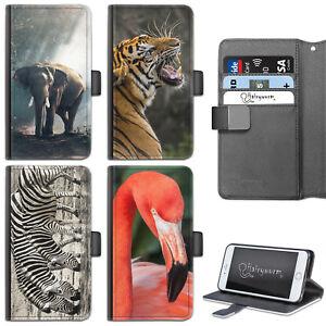 ELEPHANT-PHONE-CASE-IPHONE-6-7-8-PLUS-X-LEATHER-SIDE-FLIP-WALLET-CASE-FOR-APPLE
