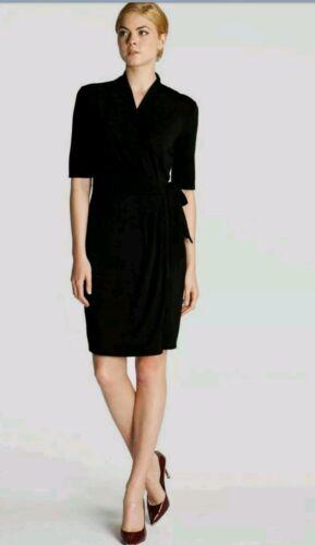 US 4 NWOT Ted Baker Black Wrap Dress Knee Length Size 1