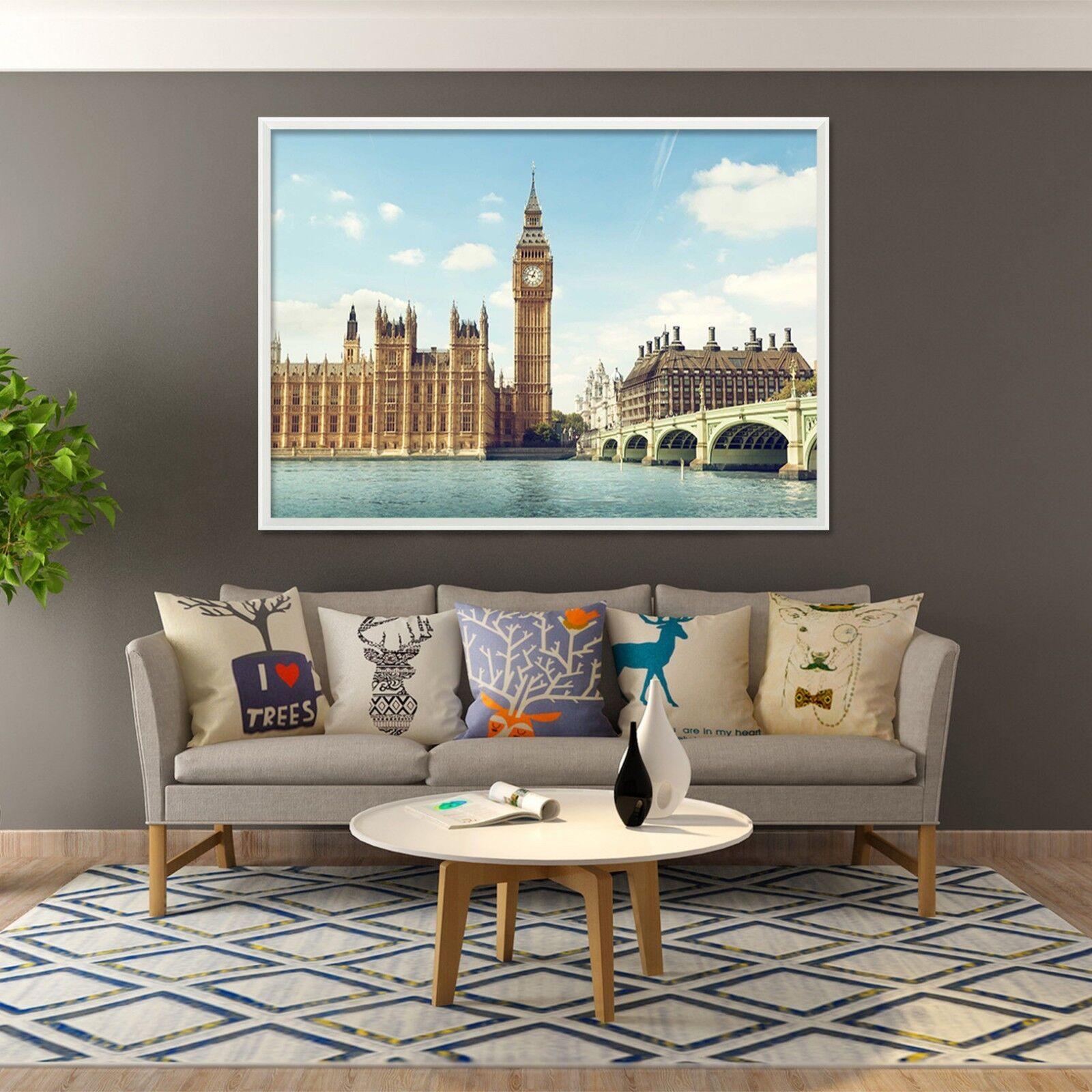 3D Big Ben 664 Fake Framed Poster Home Decor Print Painting Unique Art Summer