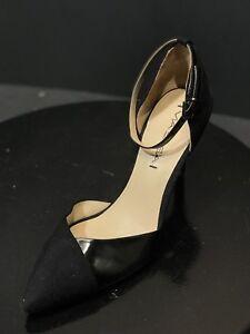 c12ecf1f20fd Via Spiga Pointed Toe Ankle Strap Black Womens Pumps Size US 7.5 M ...