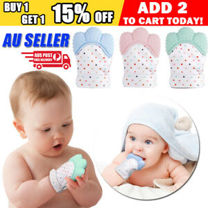 Silicone-Baby-Teether-Teething-Bite-Mitten-Glove-Safe-BPA-Free-Chew-Dummy-Toy-AU