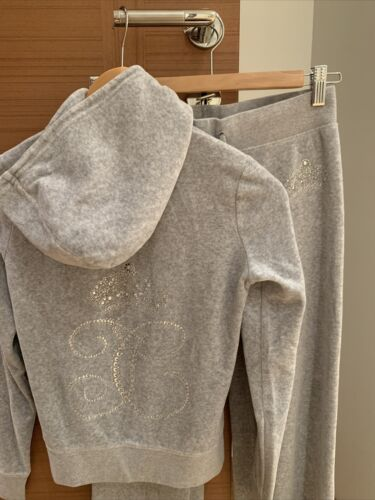 JUICY COUTURE Silver Velour  Pants XS, Hoodie Jack