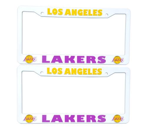 2 PC LA Los Angeles Lakers Plastic License Plate Frames