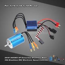 2838 3600KV 4P Sensorless Brushless Motor &35A ESC fr 1/14 1/16 1/18 Car US T8I3