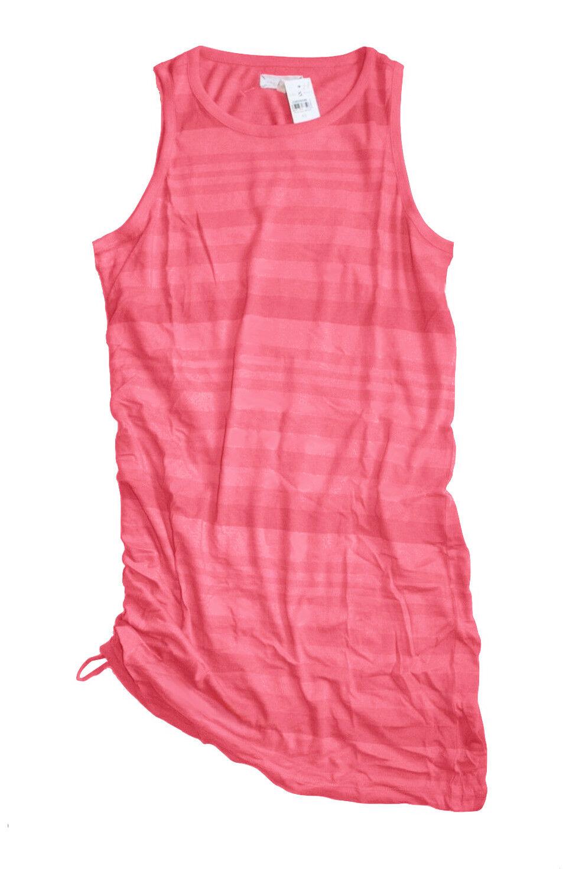 Ann Taylor LOFT - Women's XL - NWT - Tonal Coral Striped Cotton Tank Dress