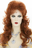 Fox Red Red Wavy Long Wigs