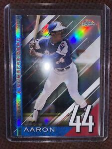2020 TOPPS CHROME UPDATE A NUMBERS GAME HANK AARON BRAVES NGC-25!!!⚾️⚾️🔥🔥
