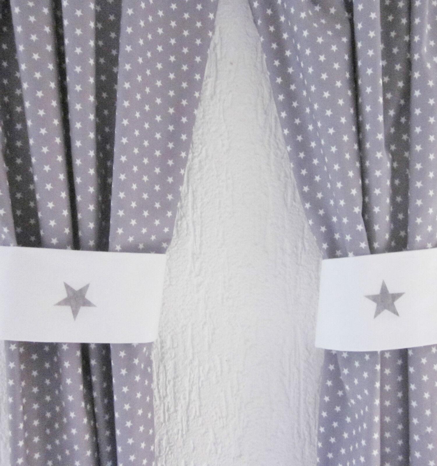 2 2 2 x  Vorhang STERNE Gardine weiß grau Schal Stern 130 cm x 240 cm Dekoschals | Sehr gelobt und vom Publikum der Verbraucher geschätzt  e48daa