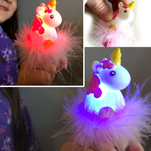 FLASHING UNICORN RING GIRL CUTE JEWELLERY GIFT BIRTHDAY PRESENT PARTY BAG FILLER