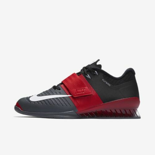Mens Nike Romaleos 3 Black Red Crossfit Weightlifting Shoes 852933 600  Comfortable Casual wild