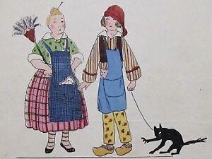 ObéIssant Travestis Mère Michel Et Père Lustucru Maggy Monier Rare Pochoir Art-déco 1925