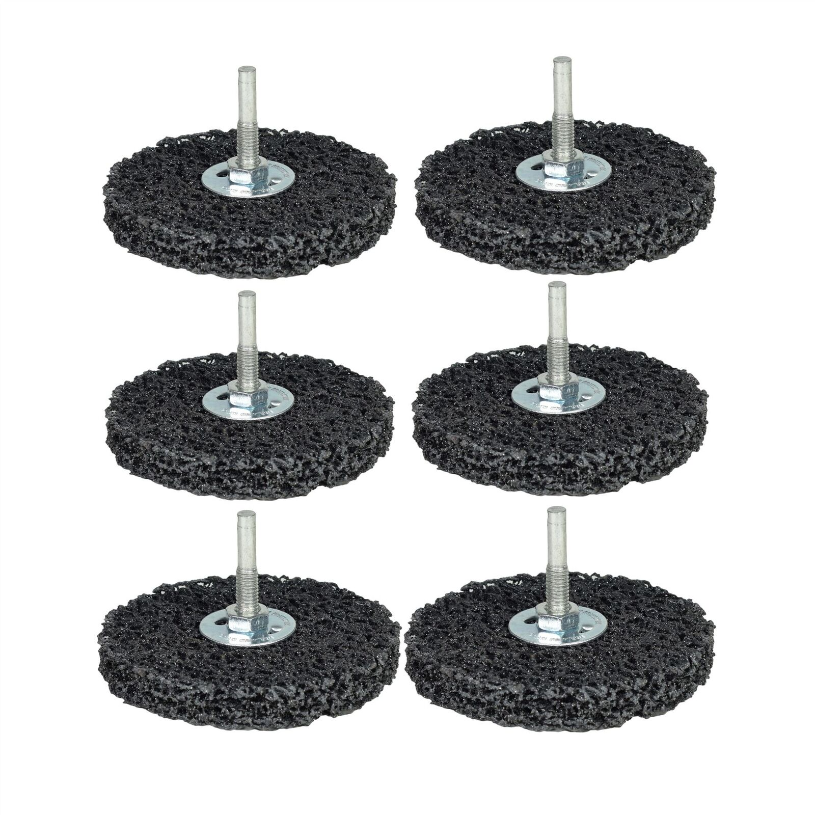6 x 100mm Rust Paint Welding Spatter Removal Clean And Strip Disc 6mm Shank
