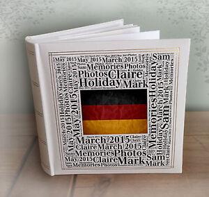 """ALBUM foto personalizzata di grandi dimensioni, 200 x 7x5"""" foto, la Germania Vacanza Libro della memoria  </span>"""