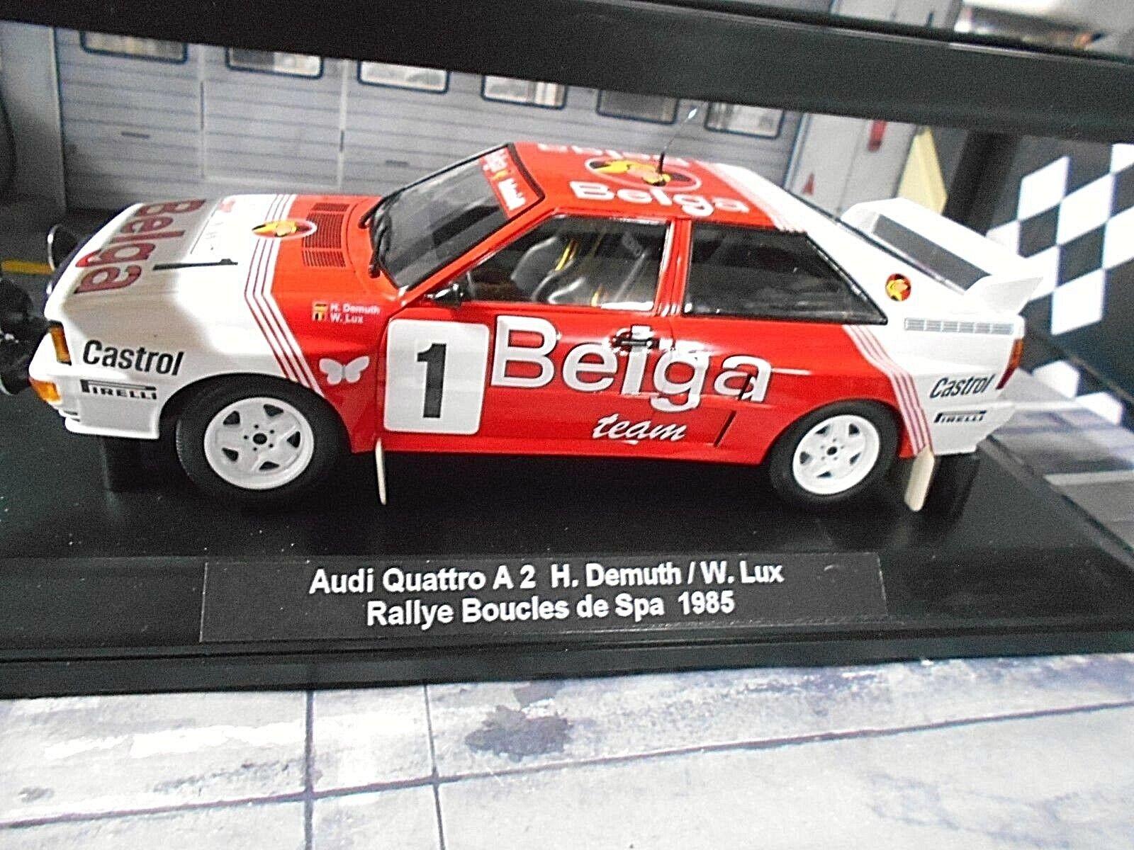 Audi Quattro Rallye Dimensione B a2 Boucles spa 1985 transformación Demufh luntad Minichamps 1 18