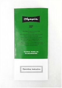 1950s Olympia SF Portable Typewriter User Instruction Manual