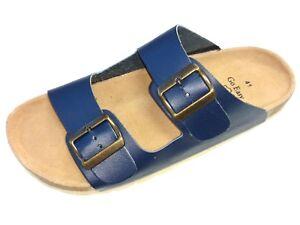 Go-Easy-Herren-Schuhe-Pantolette-Sandale-Bio-Tieffussbett-030-010-Soft-blau