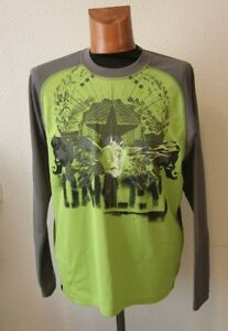 Original-maillot-Velo-VTT-OAKLEY-034-Calavers-034-TAILLE-S-vert-gris-neuf