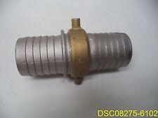 2 Hose Barb X Hose Barb Union Fire Hose Aluminum Brass