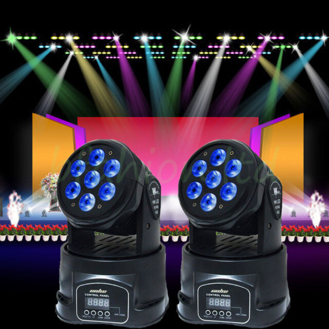 2x 70W RGBW LED Moving Head Light 13CH DJ Disco Club Par Show Stage Lighting DMX