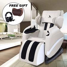 Full Body Shiatsu Massage Chair Zero Gravity Recliner w/Heat Stretched Foot Rest