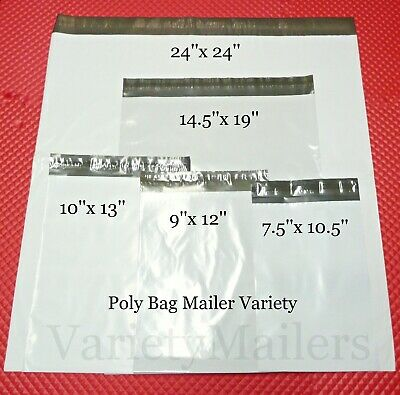 Details about  /230 Poly Bag Mailer 5 Size Assortment Small to Large Shipping Bags