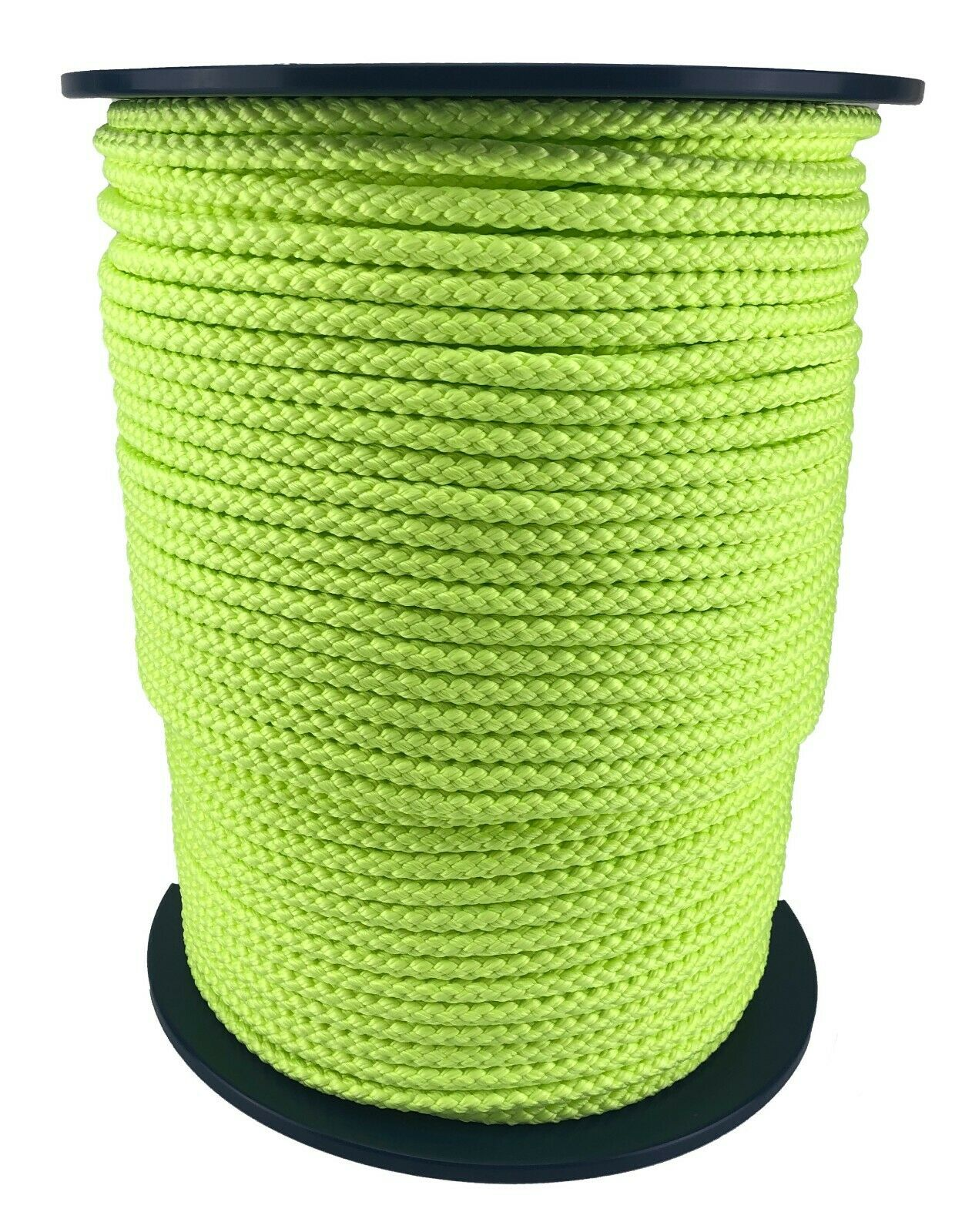 12mm Fluorescent Yellow Braided Polypropylene Rope x 45m Paracord Drawstring