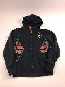 356a5f74a7fd Nike N7 Black Full Zip Tribal Graphic Hoodie Sweatshirt Men s Small ...