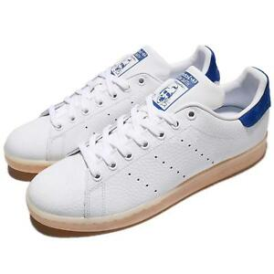 competitive price 32ab1 22956 Image is loading adidas-Originals-Stan-Smith-White-Blue-Men-Shoes-