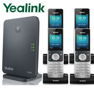 Details about Yealink W60P DECT IP Phone System Base w/ 4 Cordless Handsets  W60P + 3 W56H