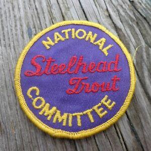 """National Truite Arc-en-ciel Comité 3"""" Round Cloth Fishing Patch-afficher Le Titre D'origine"""