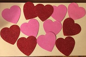 da7442151ba92 Details about Valentines Day Hearts Window DECOR S/12 Wreath Pick Swag  Clings Cupid Double Red