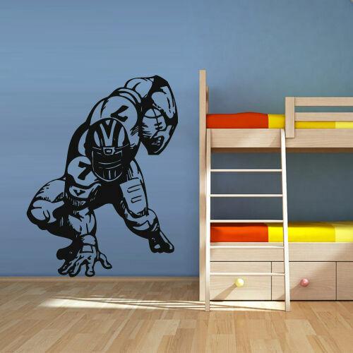 Wall Decal Vinyl Sticker Decals Football Rugby Sport Helmet Man Muscule Z2739