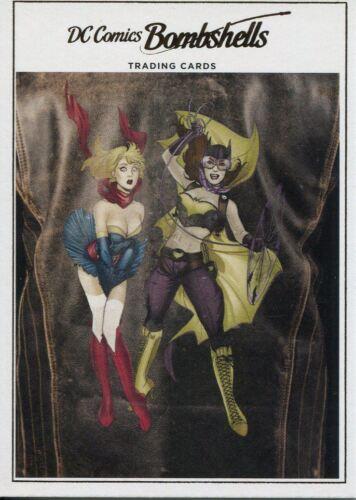 Volume 1 #12 DC Comics Bombshells Copper Deco Base Card J10 Batman//Superman