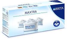 BRITA MAXTRA x 3 Water Filter Cartridges. GENUINE BRITA®. BRAND NEW.