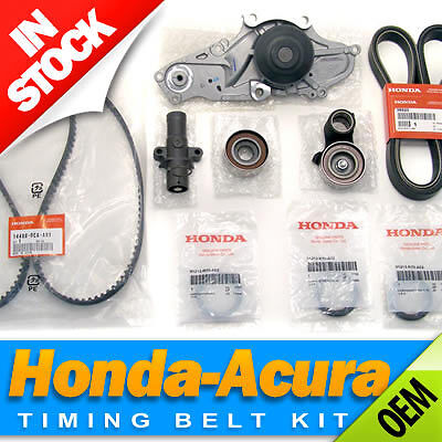 2003-2013 MDX 2004-2014 TL 2006-2014 Ridgeline 2005-2017 Pilot 2005-2015 Odyssey Engine Timing Belt Kit with Water Pump More Replace TKH-002 Compatible with Honda Acura V6-2003-2017 Accord