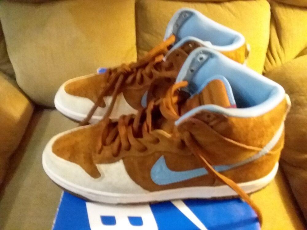 Nike SB Skate hommetal Dunk High (10) Hazelnut Light Blue 313171-241 VNDS 2009