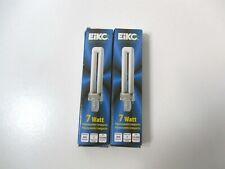 Eiko DT7//27 Duo-Tube 2700K G23 Base Compact Fluorescent Halogen Bulb 7W